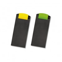 多功能ABS帳單夾 黃/綠