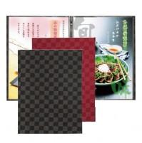 新和風菜單本-市松格紋(A4-4P)